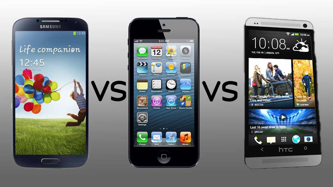 HTC ONE M8 VS IPHONE 5S VS SAMSUNG GALAXY S5