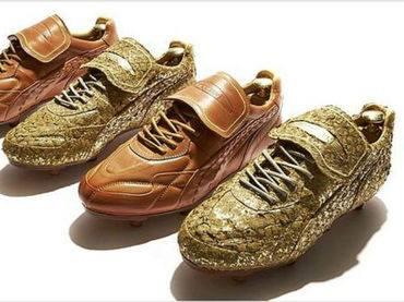 Ghete Puma cu foita de aur