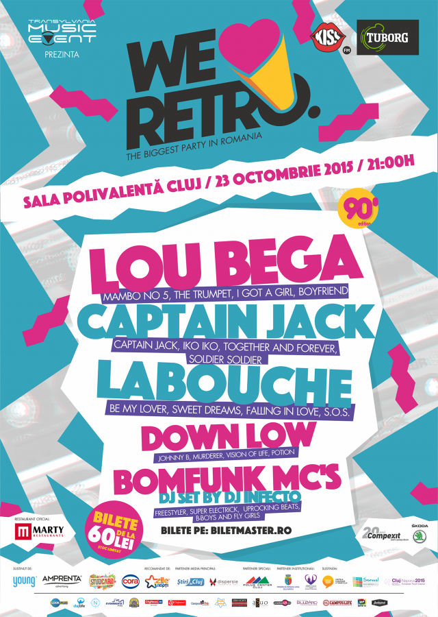 We Love Retro - 90' Music - Cluj