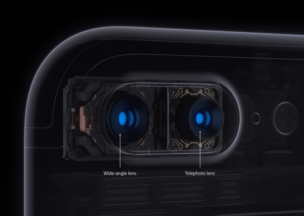 FUnctii diferite camera din spate duala iPhone 7- Credit foto:Apple